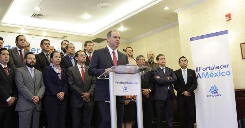 Coparmex presenta una propuesta integral para Fortalecer a México