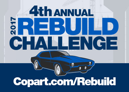 Win $5,000 in the 2017 Copart Rebuild Challenge