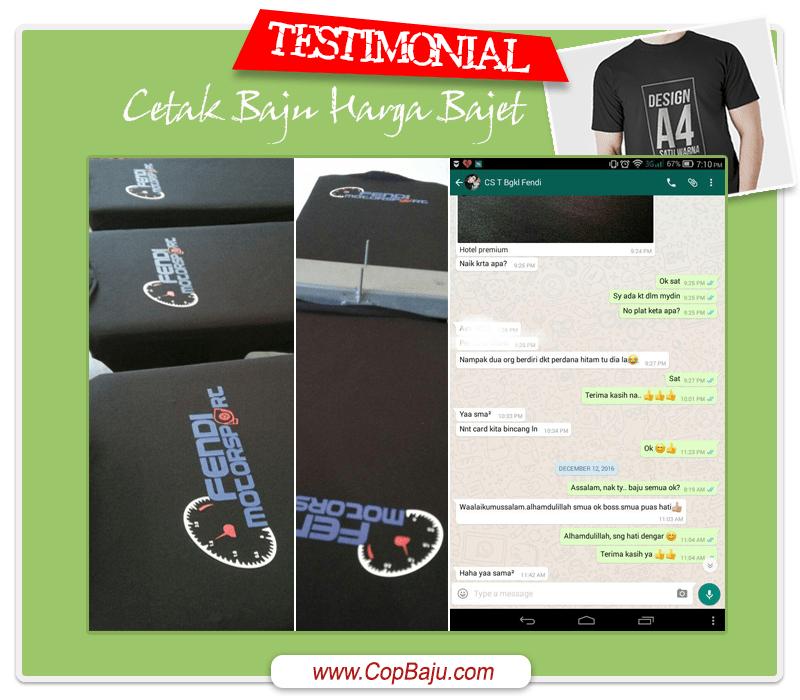 Copbaju - Testimonial Print Tshirt Bengkel Motorsport Taiping Perak