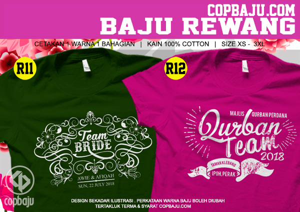 Copbaju#Print-Tshirt-Bridesmaid-11-12-Team-Qurban