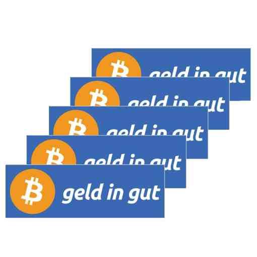 Bitcoin Sticker - Geld in Gut