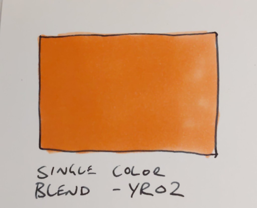 Blending using a single Copic marker