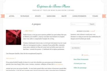 Naissance Blog Copines de Bons Plans