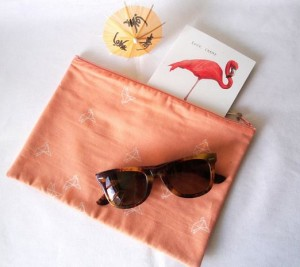 MITSIETCIE Photo Pochette origami corail