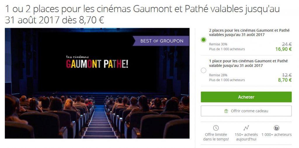 Bon plan cinema groupon