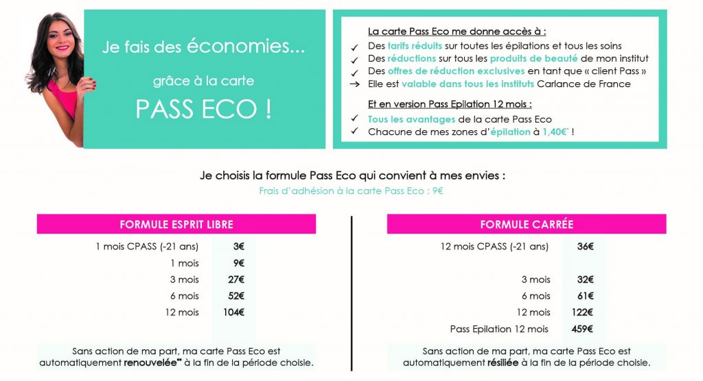 CARLANCE Carte Pass Eco