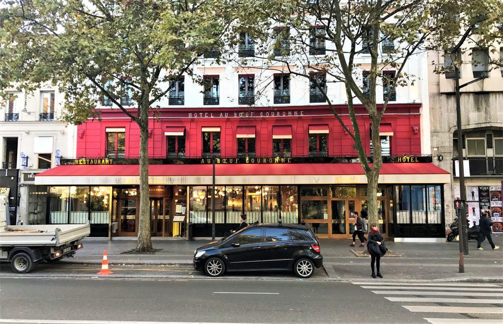 devanture hotel boeuf couronne paris
