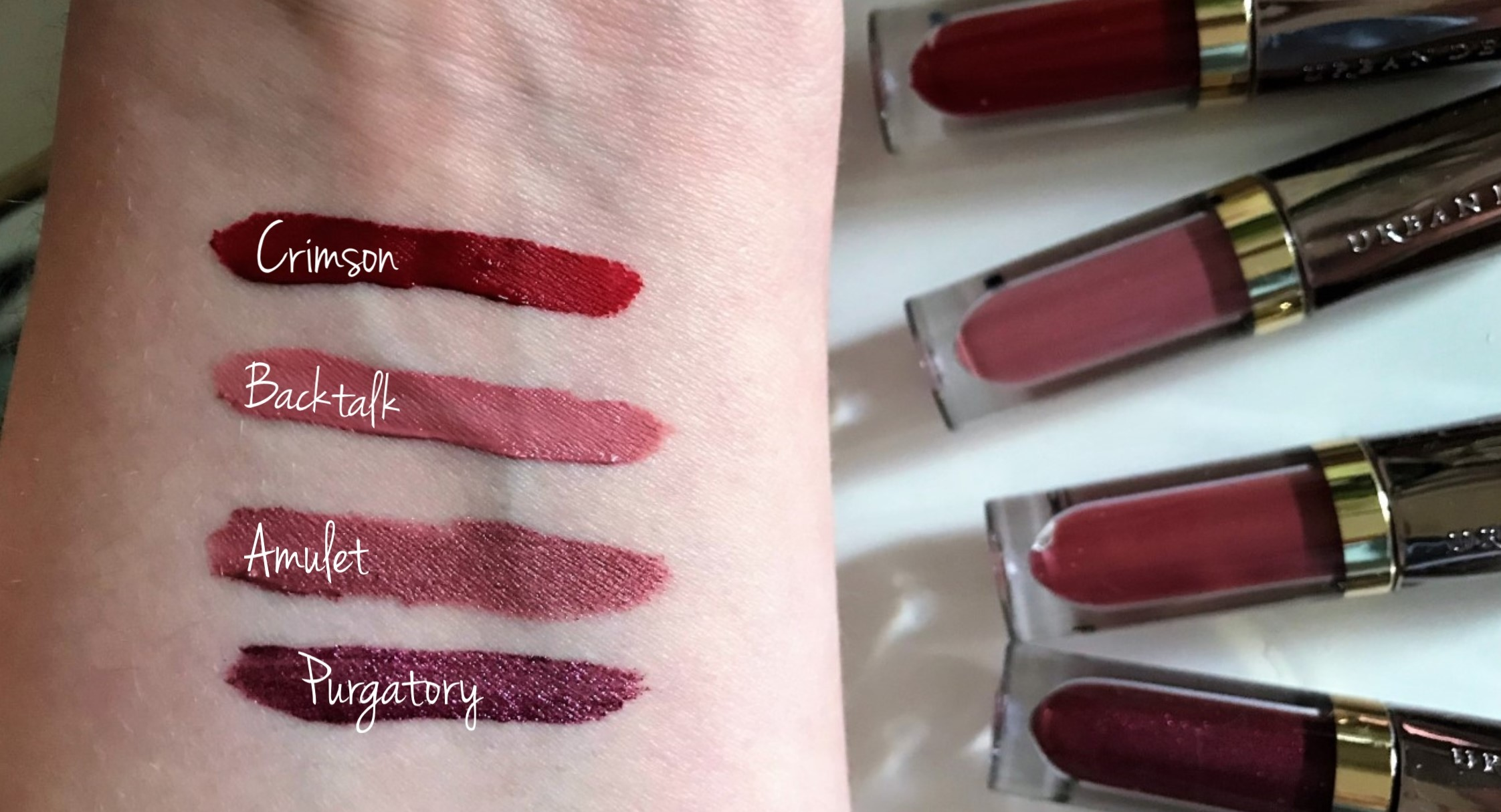 Swatches Urban decay vice liquid lipsticks