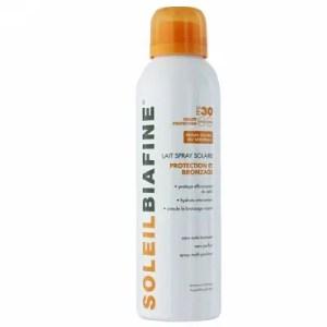 SOLEILBIAFINE – Lait spray Solaire Protection et bronzage FPS30