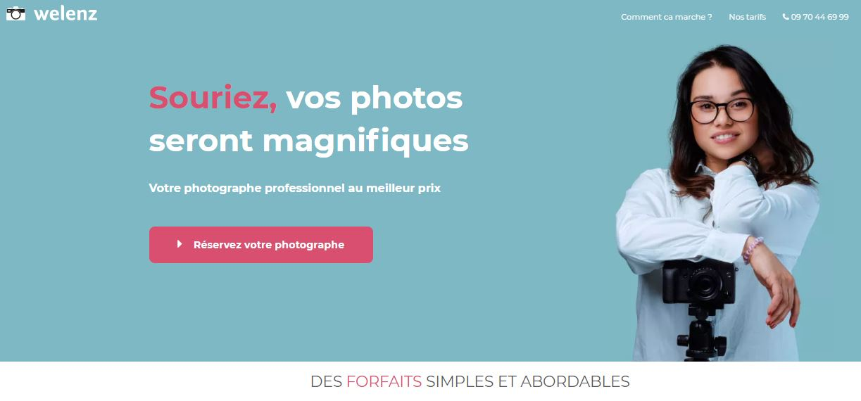 Welenz plateforme photographes