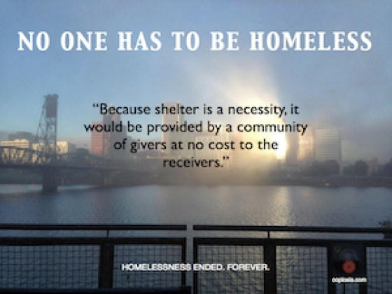 Imagine: No One has to be Homeless.001