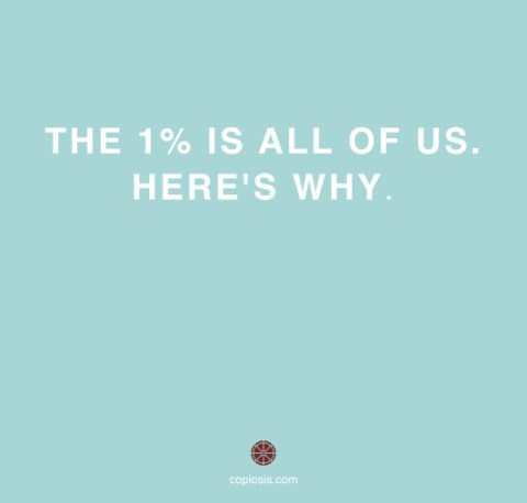 The one percent is all of us.001
