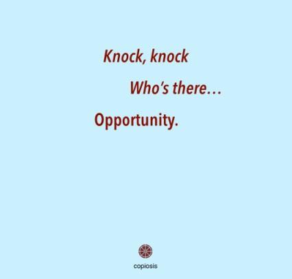 Knock knock opportunity