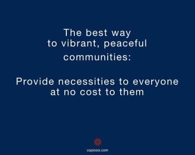 provide necessities to all