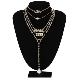 Angel 5 Layered Necklaces