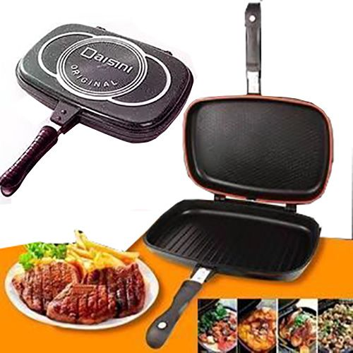 Double Side Barbecue Grill Pan For Indoor And Outdoor