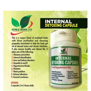 Edible Herbs Ltd Internal Detoxing Capsule For Internal Detox