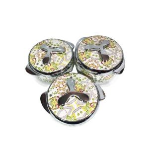 Insulated Hot Plate With Free Gift- Set 3- Flowered