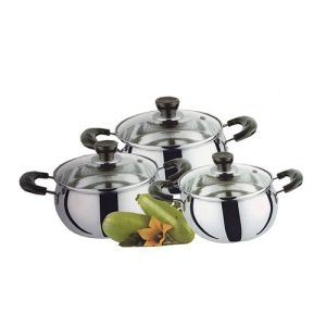 Sauce Pot Set 3 With Glass Cover