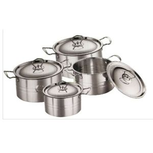 Stainless Steel Skirt Pot- Set 4
