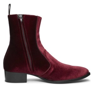 Burgundy/red Velvet Luca Boot