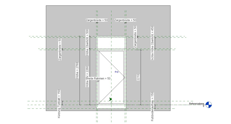MRG-Tür, 1Fl., Oberlicht