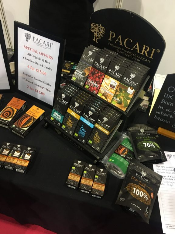 Pacari Chocolate at the Allergy & Free From Show, Glasgow 2019