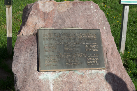 Copper Peak history plaque