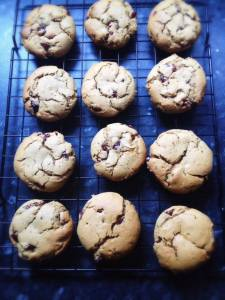 The finished dozen cookies cooling on the rack, filled the kitchen with such a wonderful scent!