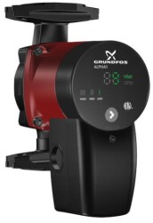 Grundfos ALPHA1 circulator pump - heating, cooling, hot water