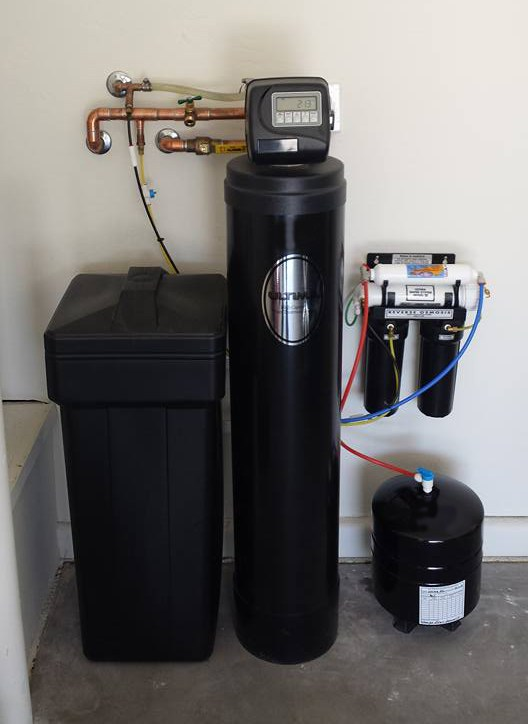 Gallery: Water Softener and Reverse Osmosis Installation in garage