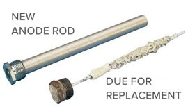 Anode rod replacement