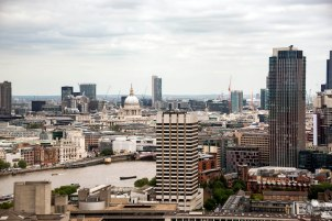 A view of London from the London Eye