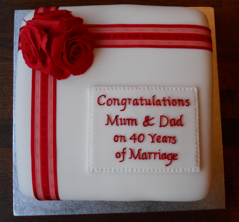 Ruby Wedding Anniversary Cake Ideas And Designs