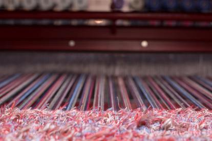 Lera's Rugs Red Rug on Loom