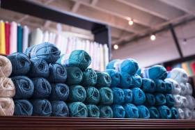 Market Street Fabric Co Blue Yarns