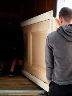Adept Kitchens and Joinery carrying door (photography: House of Ma)