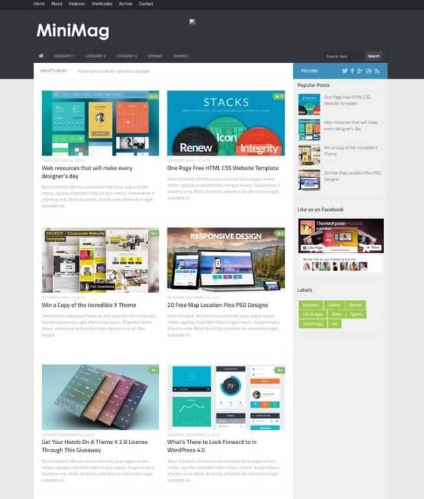 Mini Mag Blogger Template