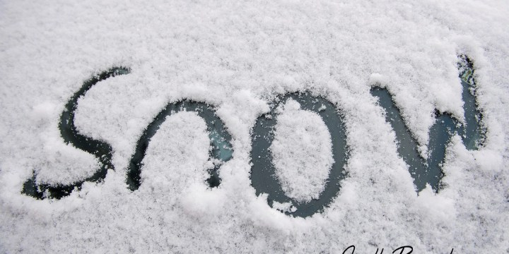 What to do in preparation for snow on the day of your party…