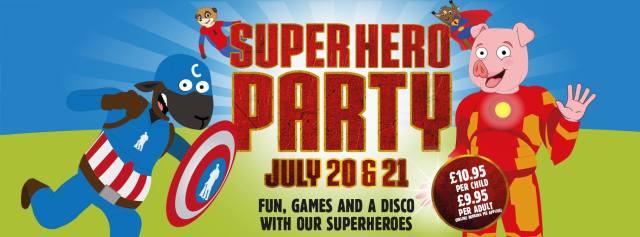 superhero party cannon hall copycat