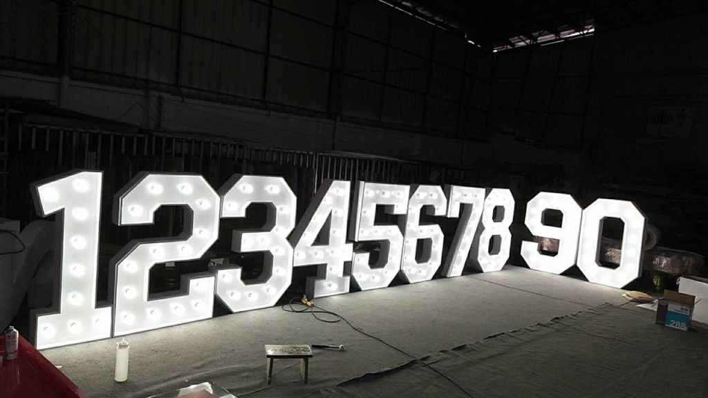 light up numbers for hire yorkshire
