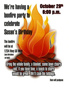bonfire party invitation copy cow starkville copy shop