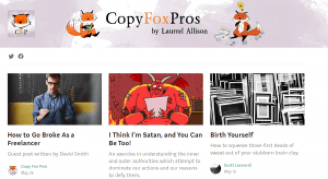 Copy Fox Pros Clever Writing CFPs Laurrel Allison Small Business Small Company Entrepreneur