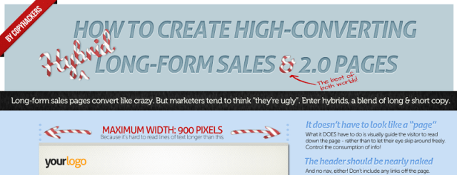 "Preview of the Copy Hackers ""hybrid sales pages"" poster..."