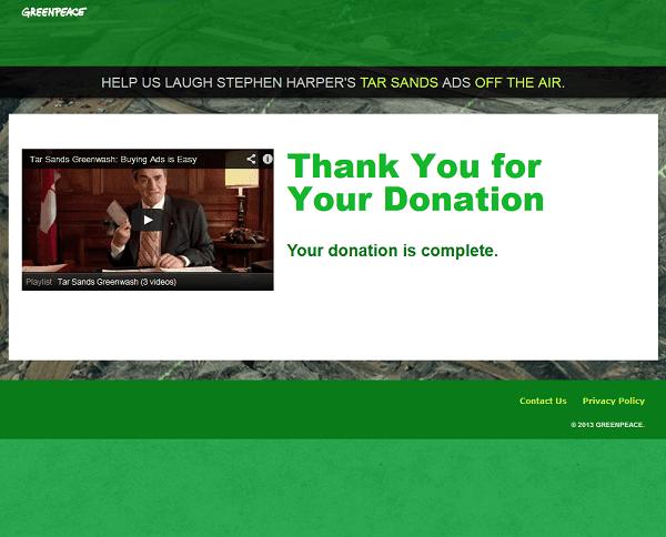 Greenpeace Thank You