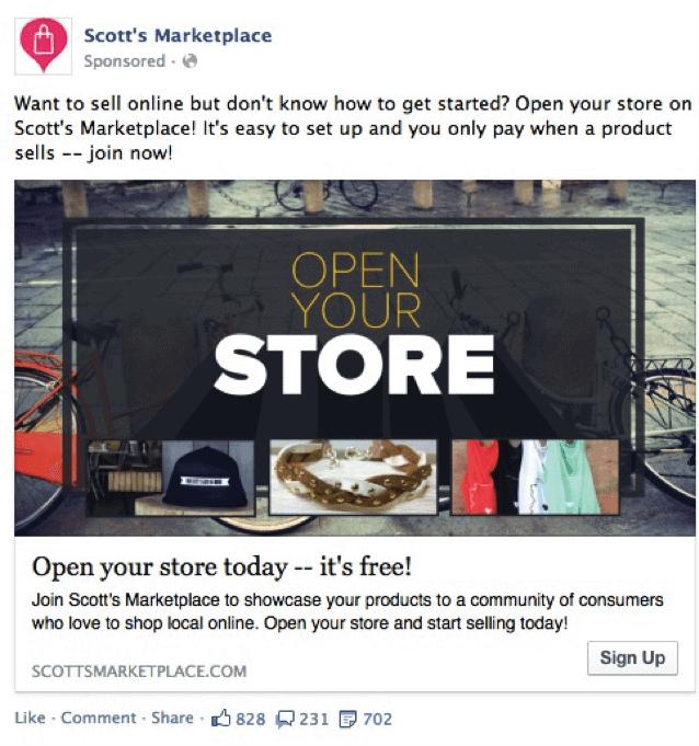 SEMrush FB ad