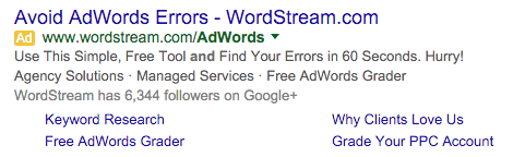Wordstream ad formula