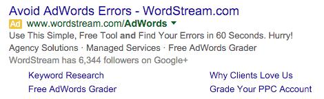 Wordstream ad formula