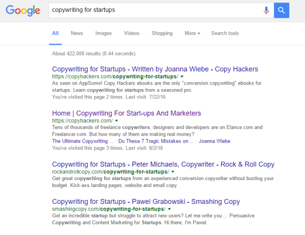 copy hackers search results