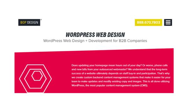 wordpress web design for b2b